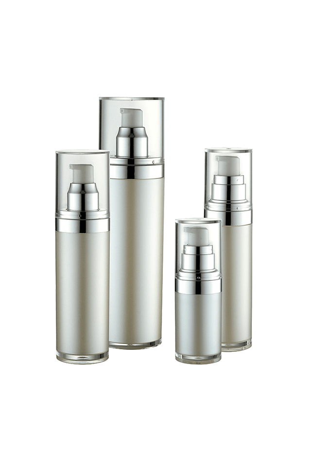 High quality cylinder luxury cosmetic skin care lotion cream bottles
