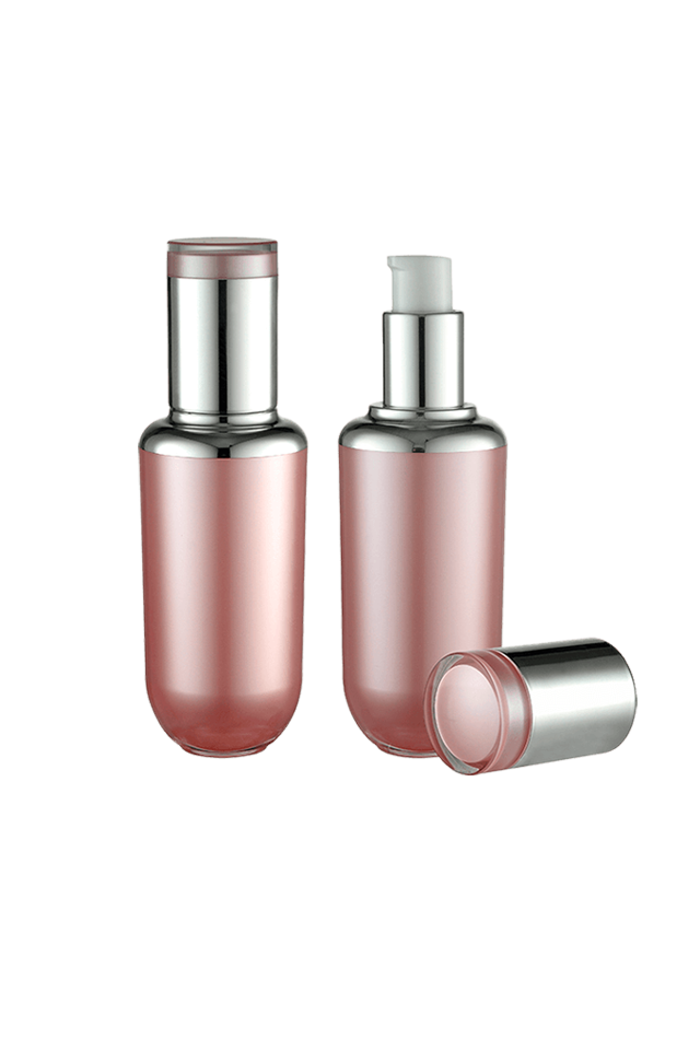 Hot sale 30ml pink luxury cream pump cosmetic lotion bottle