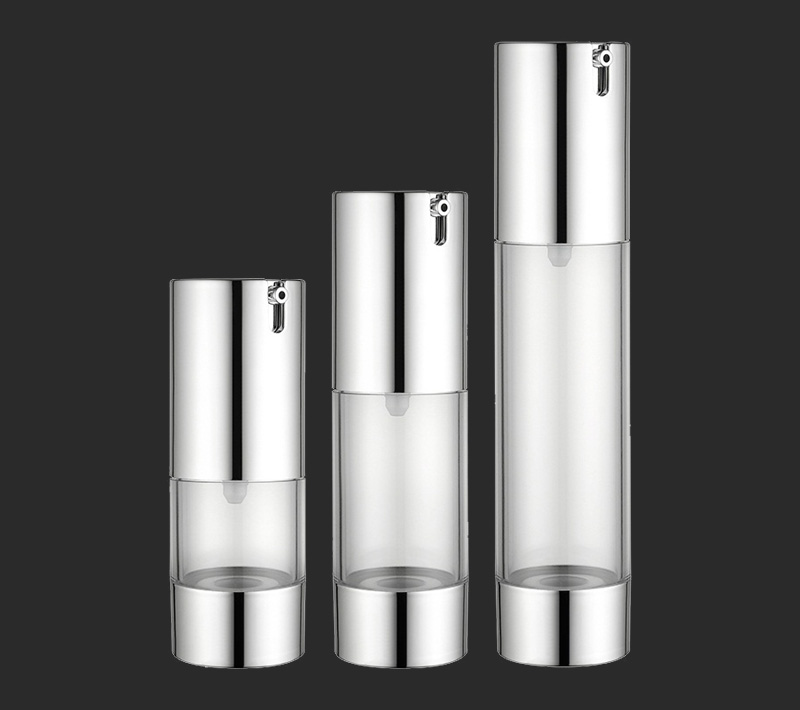 Silver essence vacuum pressure airless bottle