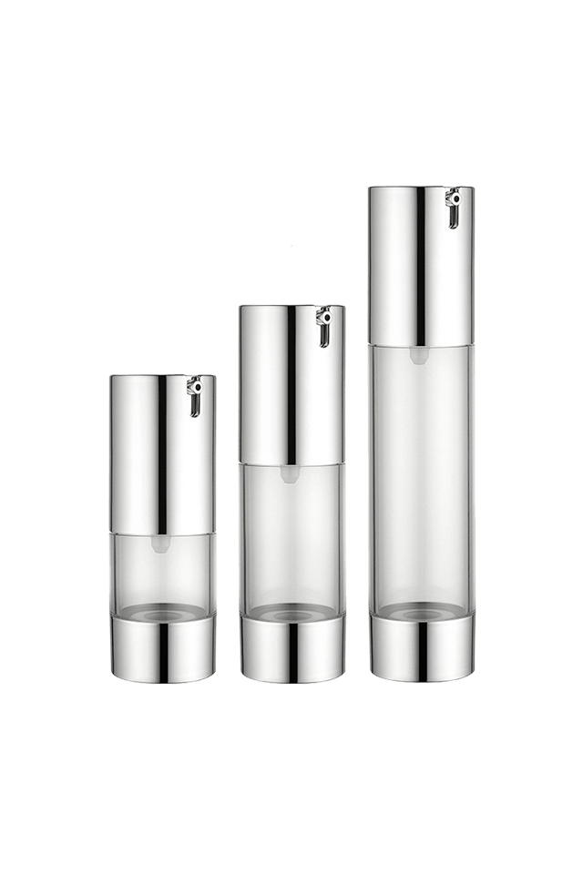 15ml 30ml 50ml Silver essence vacuum pressure airless bottle
