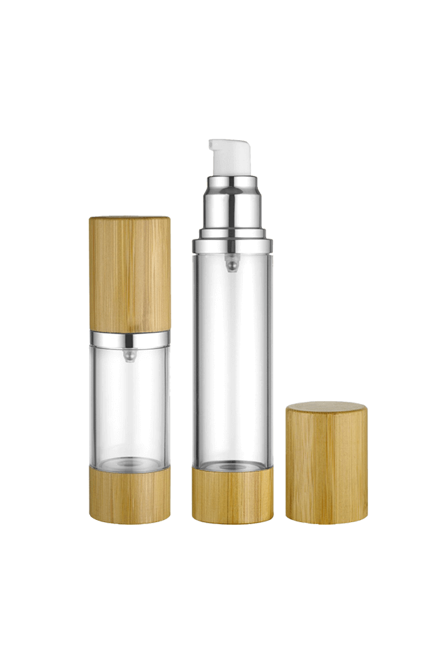 Wooden high-end airless bottle bamboo cosmetics