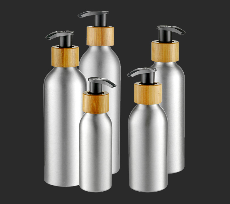 aluminum cosmetic bottle