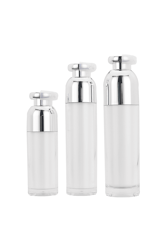 China factory luxury red cosmetic airless bottle for cosmetic packaging