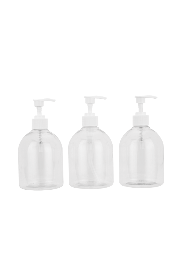 500ml Plastic clear sanitizer bottle