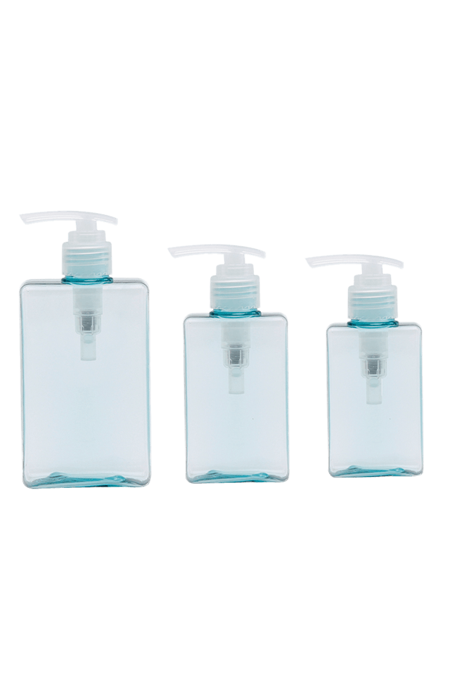 PET Square 100ml 150ml 280ml Lotion Bottle With Pump