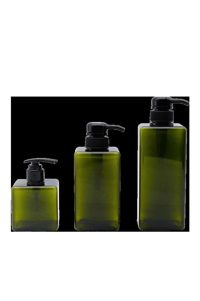250ML 450ML 650ML Plastic Square Bottle For Lotion Soap Pump